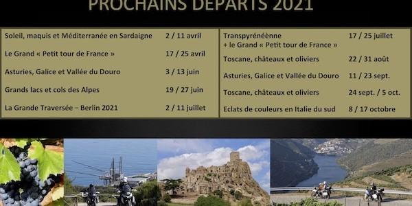 Prochains départs 2021 Réduit
